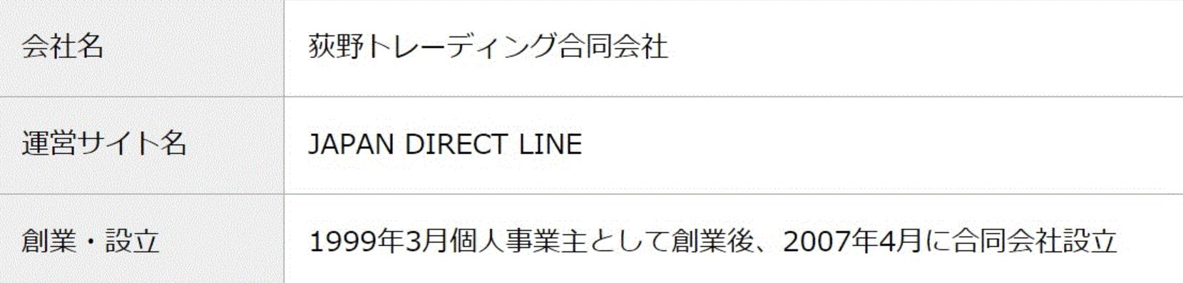 ジャパンダイレクトライン 会社案内