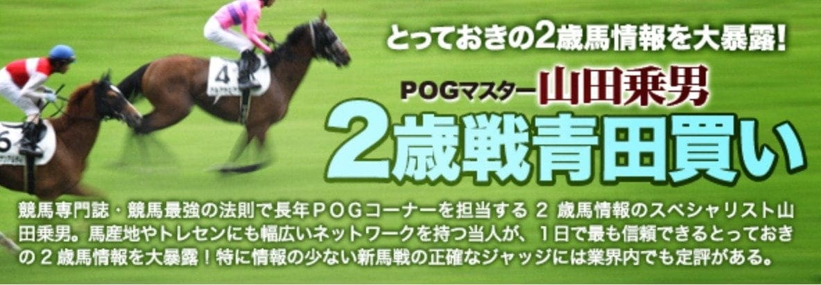 POGマスター山田乗男2歳戦青田買い