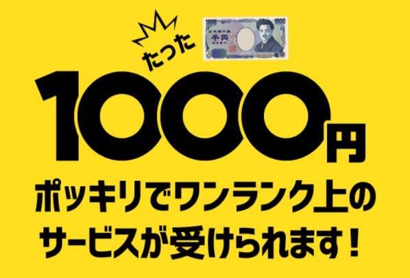 1,000円でワンランク上のサービス