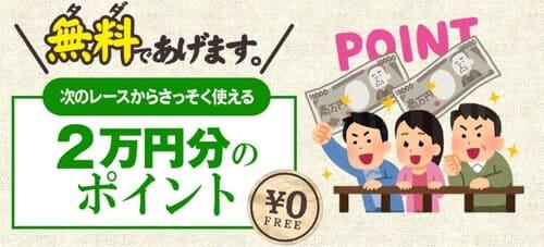 2万円分のポイントがもらえる